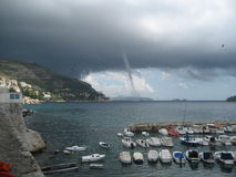 Aa incoming twister in Dubrovnik, Croatia Royalty Free Stock Photography