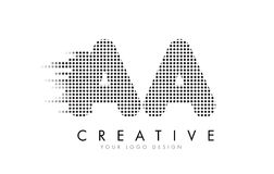 AA A Letter Logo with Black Dots and Trails. Stock Images