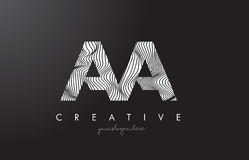 AA A Letter Logo with Zebra Lines Texture Design Vector. AA A Letter Logo with Zebra Lines Texture Design Vector Illustration vector illustration