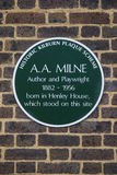AA Milne Plaque in London Stock Photography