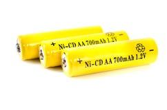 AA Ni-Cd element. Energy supply equipment Royalty Free Stock Image