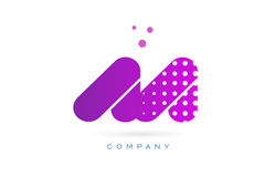 Aa a pink dots letter logo alphabet icon. Aa a pink dots dotted letter logo alphabet creative company vector icon design template Royalty Free Stock Photography