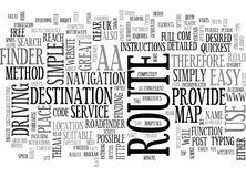 Aa Roadfinder Word Cloud. AA ROADFINDER TEXT WORD CLOUD CONCEPT Stock Image