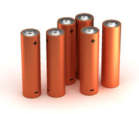 AA Size Batteries stock illustration
