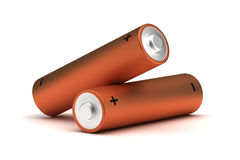 AA Size Batteries Royalty Free Stock Photos