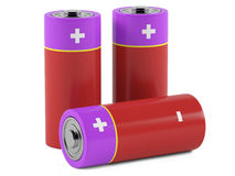 AA size batteries. On white background Stock Photography