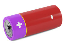AA size batteries. On white background Stock Image