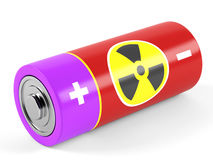 AA size batteries. On white background. 3D rendering Royalty Free Stock Images