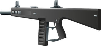 AA-12. Vector illustration of automatic gun-AA-12 shotgun Stock Illustration