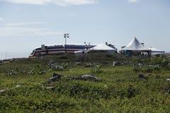aa331 αμερικανική πτήση Τζαμάικ& Στοκ φωτογραφία με δικαίωμα ελεύθερης χρήσης