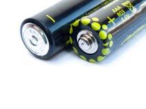 aaa-batterier två Arkivfoton