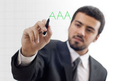 AAA Credit note Royalty Free Stock Images