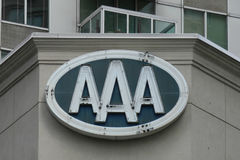 AAA. The New York offices of AAA, the American Automobile Association, a federation of motor clubs in North America Stock Images