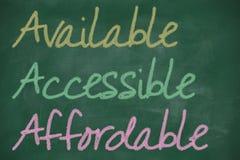 AAA para disponible, accesible y asequible libre illustration