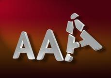 AAA quebrado Imagenes de archivo