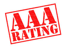 AAA RATING. Red Rubber Stamp over a white background stock illustration
