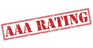 Aaa rating red stamp. On white background Royalty Free Stock Image