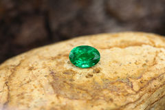 AAA Rusian Emerald Gemstone Fotos de Stock Royalty Free