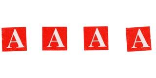 aaaa quattro lettere di A fotografie stock libere da diritti