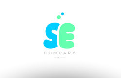 AAAAA alphabet letter blue green logo icon design Royalty Free Stock Photo
