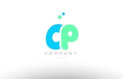 AAAAA alphabet letter blue green logo icon design Royalty Free Stock Photos