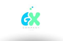 AAAAA alphabet letter blue green logo icon design Royalty Free Stock Image