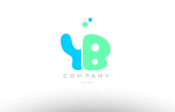 AAAAA alphabet letter blue green logo icon design Stock Photos