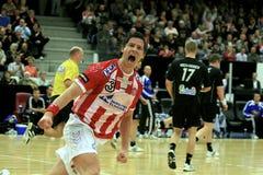AaB Handball - FCK Handball (35-31) Stockbilder