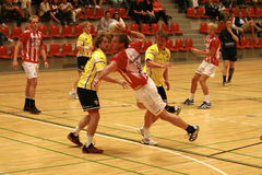 AaB Handball - Ikast Rumpfstation Lizenzfreie Stockbilder