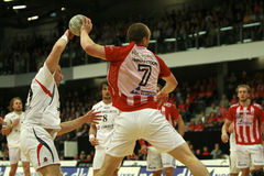 AaB Handball - KIF Kolding Royalty Free Stock Photography