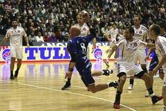 AaB Handball - MOR-Thy Handball Lizenzfreie Stockbilder