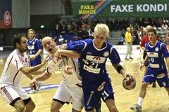 AaB Handball - MOR-Thy Handball Lizenzfreie Stockfotos