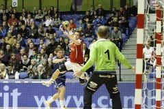 AaB handboll - Lemvig-Thyborøn handboll Arkivbild
