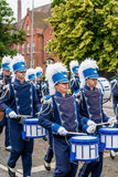 AABENRAA, ДАНИЯ - 6-ОЕ ИЮЛЯ - 2014: Корпус Tambour на параде на стоковые фотографии rf