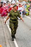 AABENRAA, DÄNEMARK - 6. JULI - 2014: Nationaler Schutz vor mir Stockbilder