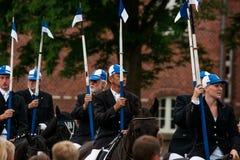 AABENRAA, DÄNEMARK - 6. JULI - 2014: Teilnehmende Reiter in einer Gleichheit lizenzfreie stockfotos