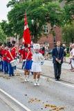 AABENRAA, DANEMARK - 6 JUILLET - 2014 : Corps de Tambour à un défilé à Photographie stock