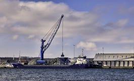 Aabenraa hamn i Danmark Fotografering för Bildbyråer