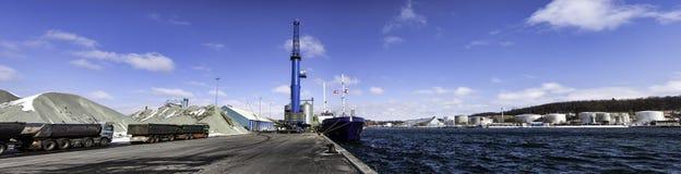 Aabenraa hamn i Danmark Royaltyfri Fotografi