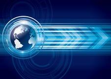 AAbstract全球地球技术 免版税库存图片