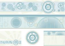 Aabstract backgrounds. Vector set of backgrounds and elements for web design Stock Image