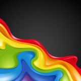 Aabstract rainbow. Illustration abstract rainbows on a black background. Vector illustration for design royalty free illustration