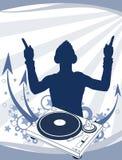 aabstractionen dj party royaltyfri illustrationer