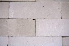 AAC cru esterilizou o muro de cimento ventilado, vista dianteira, fundo Imagens de Stock Royalty Free