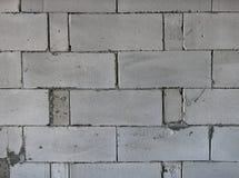 AAC cru esterilizou o muro de cimento ventilado, vista dianteira, fundo Fotos de Stock Royalty Free