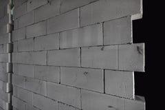 AAC cru a stérilisé à l'autoclave le mur en béton aéré, vue d'angle, fond Photo libre de droits