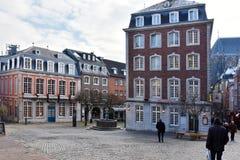 Aachen, altes Quadrat in der Mitte der Stadt Stockbilder
