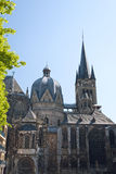 Aachen Cathedral. Also Imperial Cathedral (in German: Kaiserdom), Roman Catholic church in Aachen, Germany Stock Photos