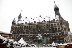 Aachen City hall Germany Royalty Free Stock Images