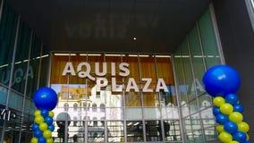 AACHEN, DEUTSCHLAND - 28. OKTOBER 2015: Das neue AQUIS-PIAZZA-Einkaufszentrum ist in Aachen geöffnet Lizenzfreies Stockfoto